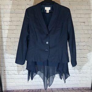 Women's Chadwick's Navy Blue Jacket & Skirt Set